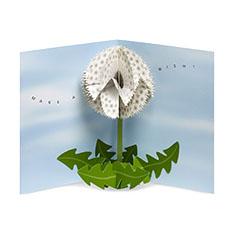 MoMA ポップアップカード ダンデライオンウィッシュ(1枚)の商品画像