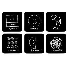 MoMA ヒストリーオブアート コースター(6枚セット)の商品画像