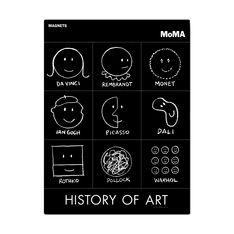 MoMA ヒストリーオブアート マグネットセットの商品画像