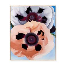 オキーフ:Poppies フレーム付ポスターの商品画像