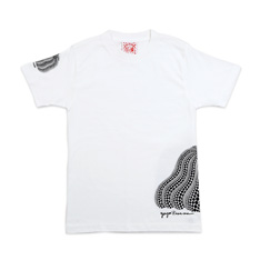 草間彌生:Tシャツ 南瓜 白 Mの商品画像