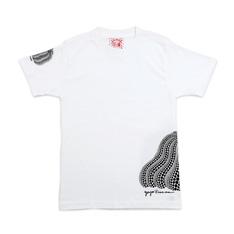 草間彌生:Tシャツ 南瓜 白 Lの商品画像