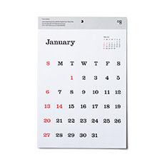 D-BROS タイプフェイス カレンダー 2019の商品画像