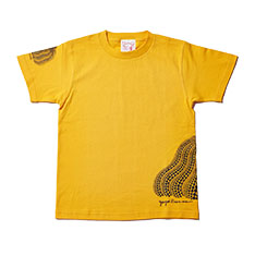 草間彌生:Tシャツ 南瓜 イエロー Mの商品画像