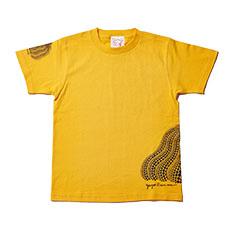 草間彌生:Tシャツ 南瓜 イエロー Lの商品画像