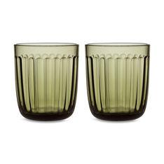 iittala ラーミ グラス タンブラー モスグリーン 2個セットの商品画像