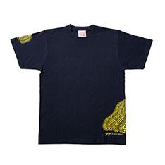 草間彌生:Tシャツ 南瓜 ネイビー Lの商品画像