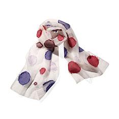 ピンクドット フリンジ スカーフの商品画像