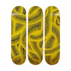 MoMA 草間彌生:Yellow Trees スケートボード トリプティックの商品画像