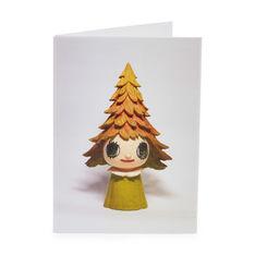 MoMA グリーティングカード 奈良美智 MORI GIRL (12枚セット)の商品画像