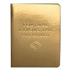日付なしプランナー FORTUNE FAVORS THE PREPARED ゴールドの商品画像