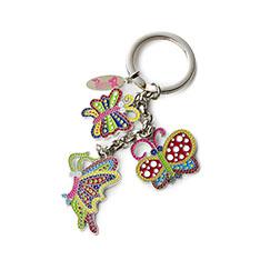 草間彌生:キーリング 蝶の商品画像