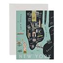 New York Map(ニューヨーク マップ)・カードの商品画像