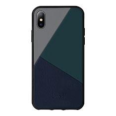 Native Union iPhone X ケース トリコレザー ブルーの商品画像