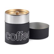 コーヒーキャニスター マットブラックの商品画像