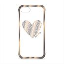キース・ヘリング: iPhone 8/7 ケース Heart ゴールド/クリアの商品画像