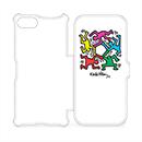 キース・ヘリング: iPhone 8/7 フリップカバー Hexagon Figs ホワイトの商品画像