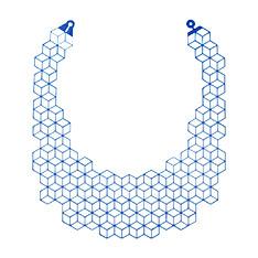 RHOMBI ネックレス ブルーの商品画像