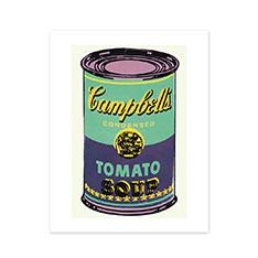 ウォーホル: キャンベルスープ缶 パープル ポスターの商品画像