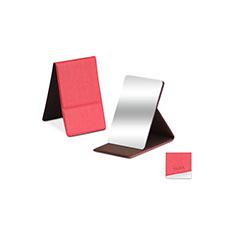 MoMA ステンレス コンパクトミラー レッドの商品画像