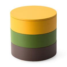 スタッキング ジュエリーボックス グリーン/ブラウンの商品画像
