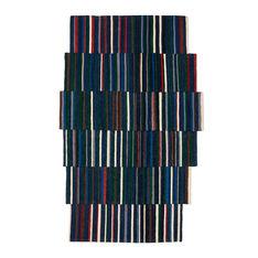 Nanimarquina Lattice ラグ ブルー 80 x 130 cmの商品画像
