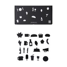 Arne Jacobsen メッセージボード フード アイコン ブラックの商品画像