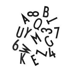 Arne Jacobsen メッセージボード レター&ナンバー Large ブラックの商品画像