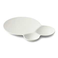 サヴォネ 仕切り取り皿 マットホワイトの商品画像
