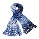 エクリプス 羽二重スカーフ ブルーの商品画像