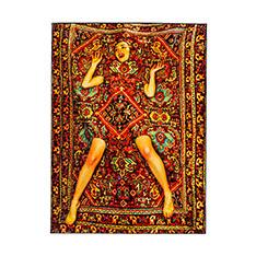 Seletti Wears Toiletpaper スクエアラグ Lady On Carpetの商品画像