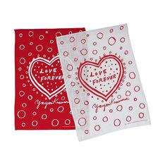 草間彌生:ティータオル Love Forever(2枚セット)の商品画像