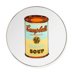 ウォーホル:Soup Cans Yellow インテリアプレートの商品画像