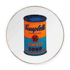 ウォーホル:Soup Cans Blue インテリアプレートの商品画像