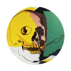 ウォーホル:Skull インテリアプレート イエローの商品画像
