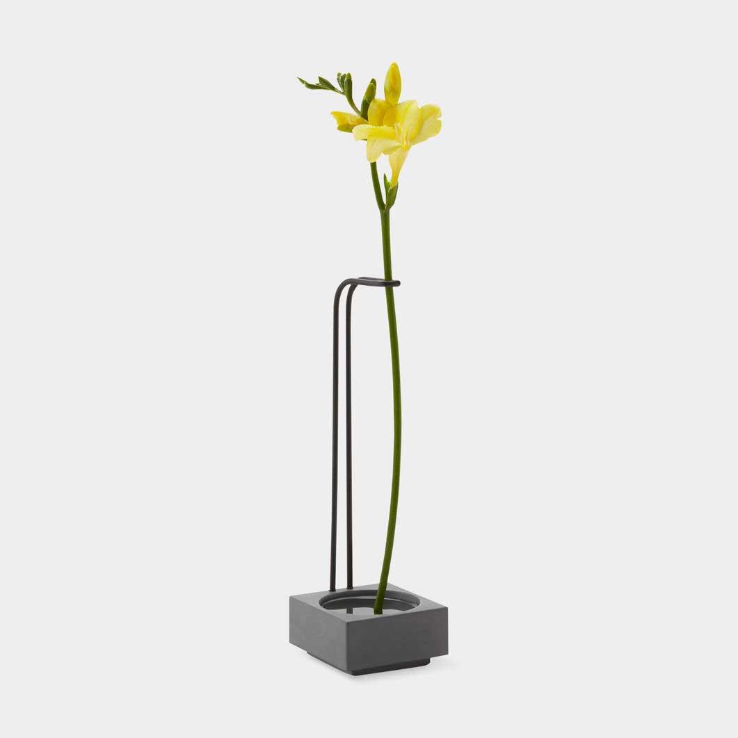 MoMA ブロッサム ウェル ベース セメント/ブラック