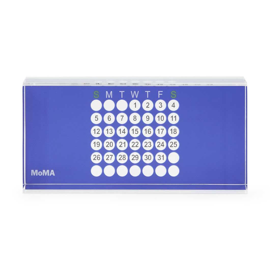 MoMA アクリル万年カレンダー ブルー