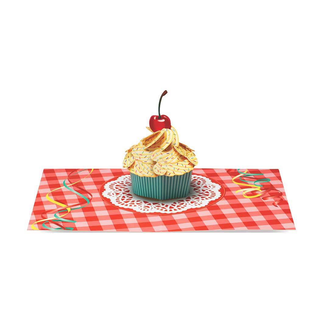 MoMA ポップアップカード ギンガムカップケーキ