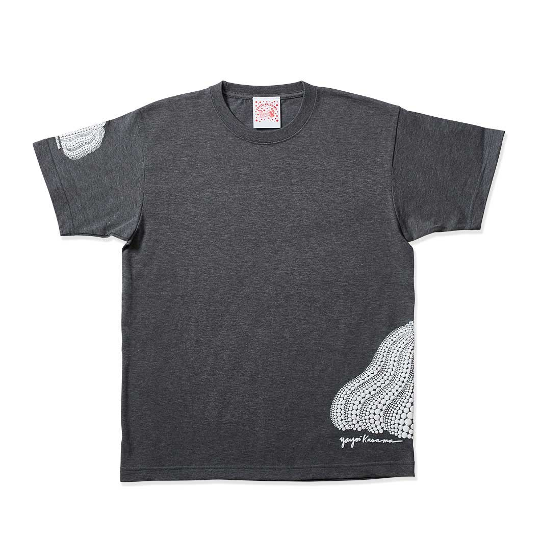 草間彌生:Tシャツ 南瓜 グレー M