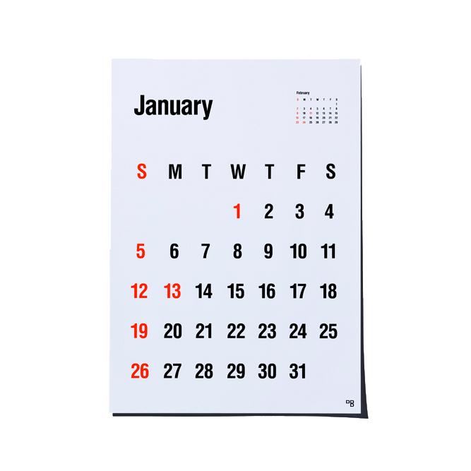 タイプフェイス ポスターカレンダー 2020