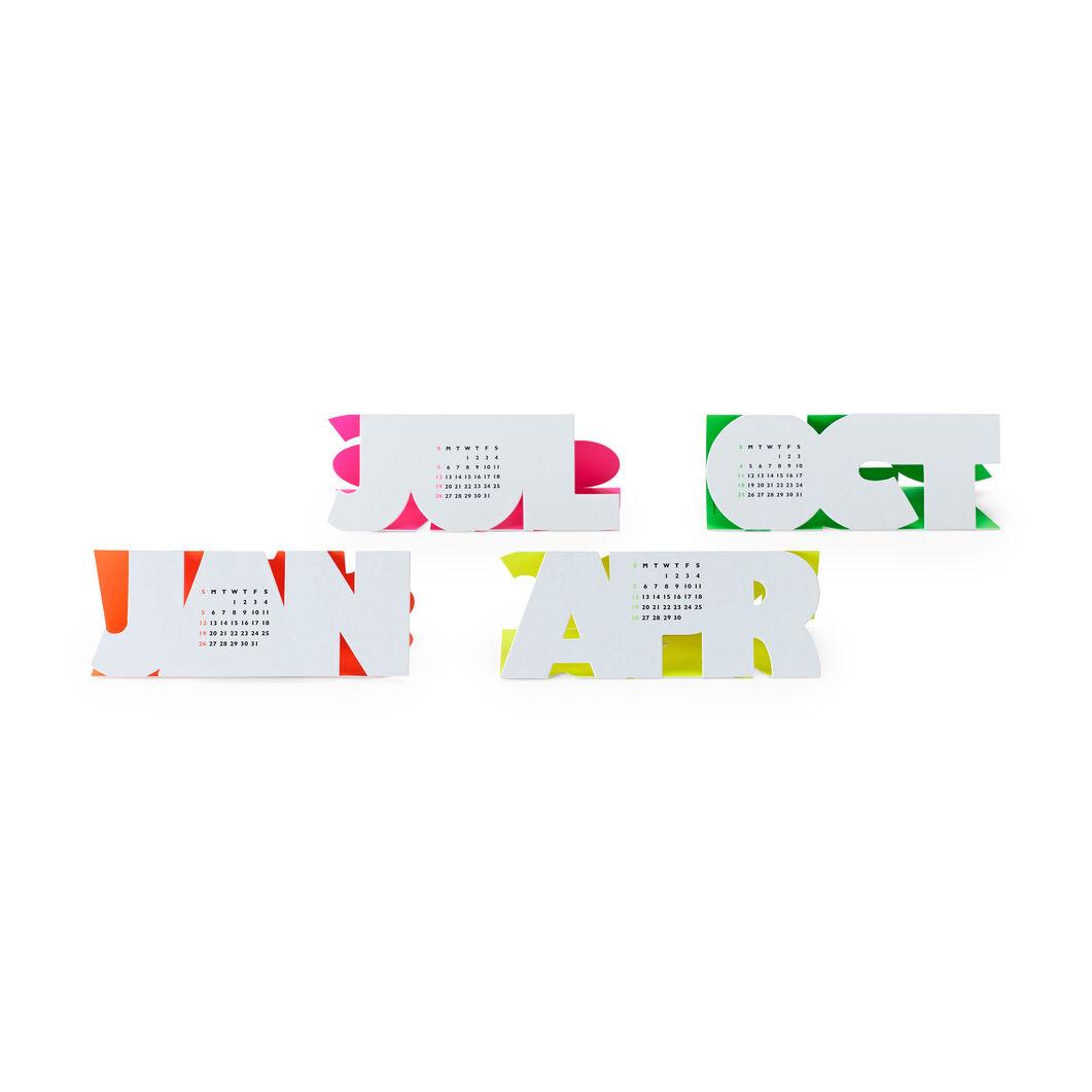Typeface カレンダー 2020