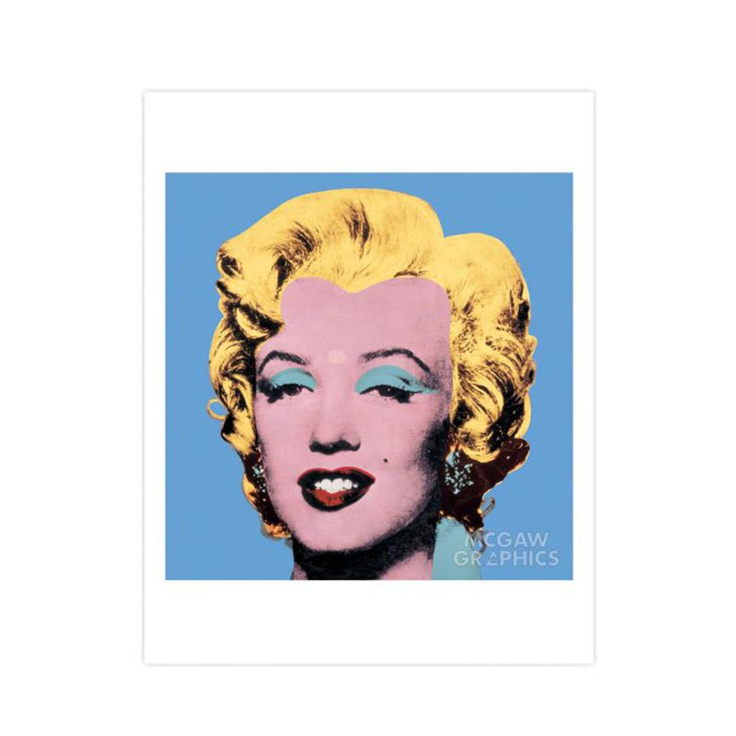 ウォーホル:Blue Marilyn ポスター