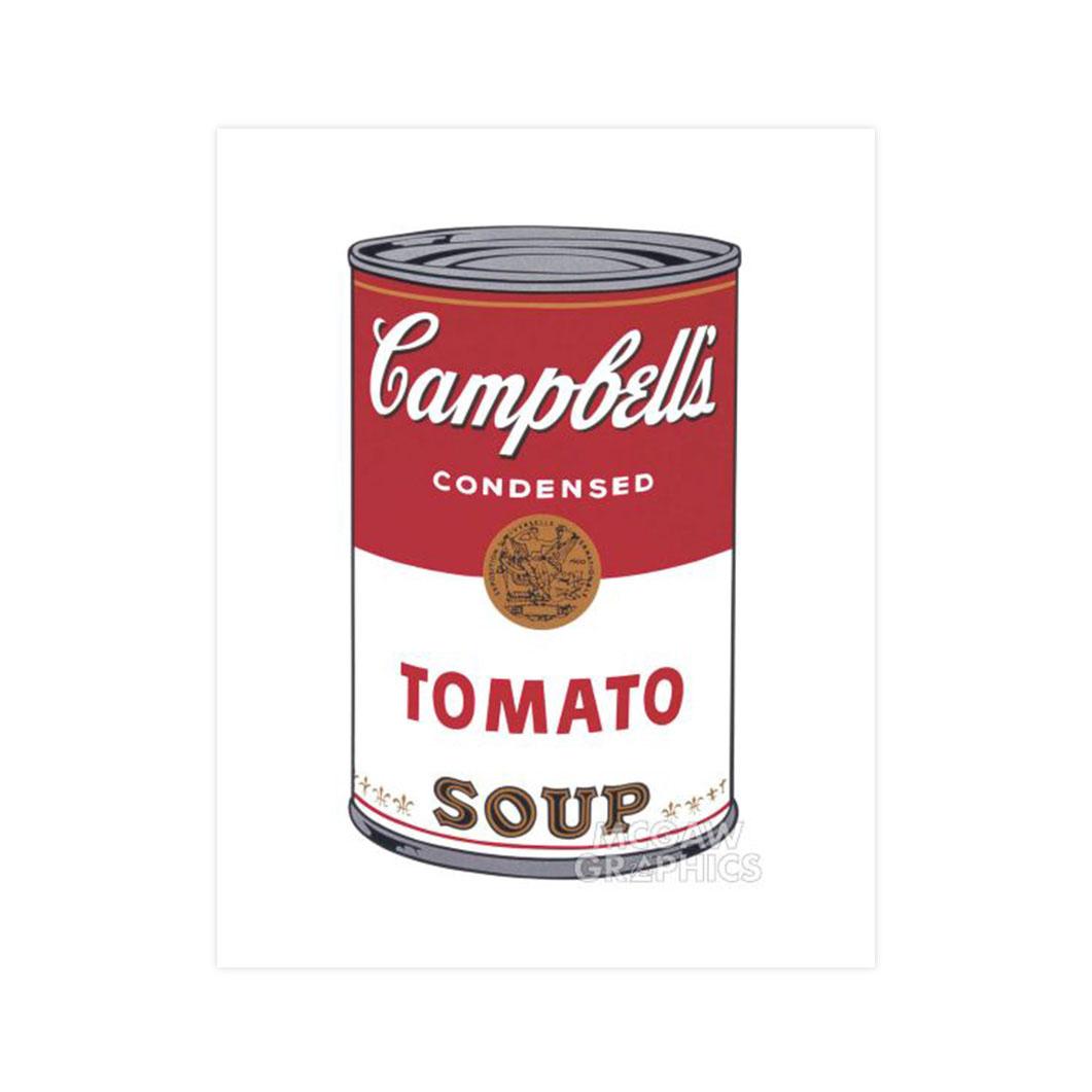 ウォーホル:Campbell's Soup Tomato ポスター