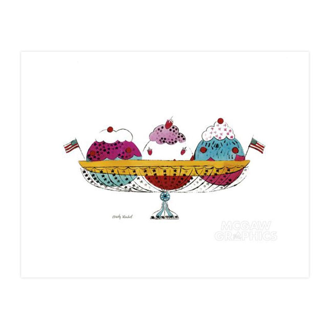 ウォーホル:Ice Cream Dessert (3 scoop) ポスター