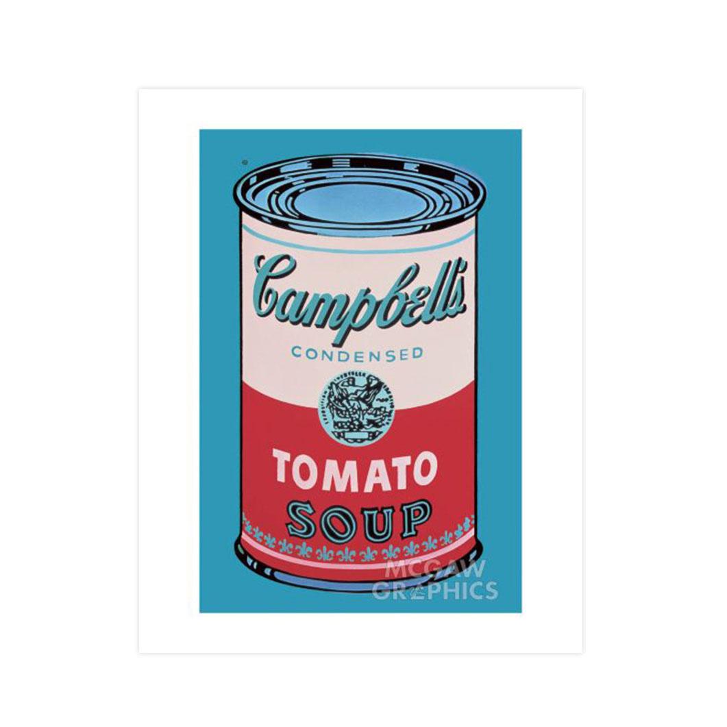 ウォーホル:Campbell's Soup Can (Pink &Red) ポスター