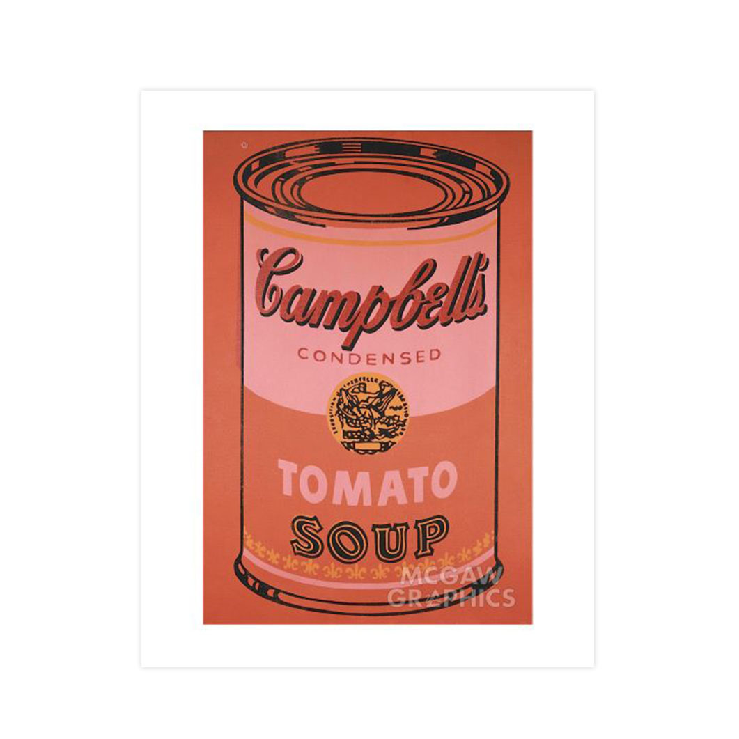 ウォーホル:Campbell's Soup Can (Orange) ポスター
