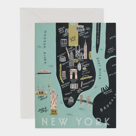 MoMA Design Store (旧MoMA STORE)New York Map(ニューヨーク マップ)・カード