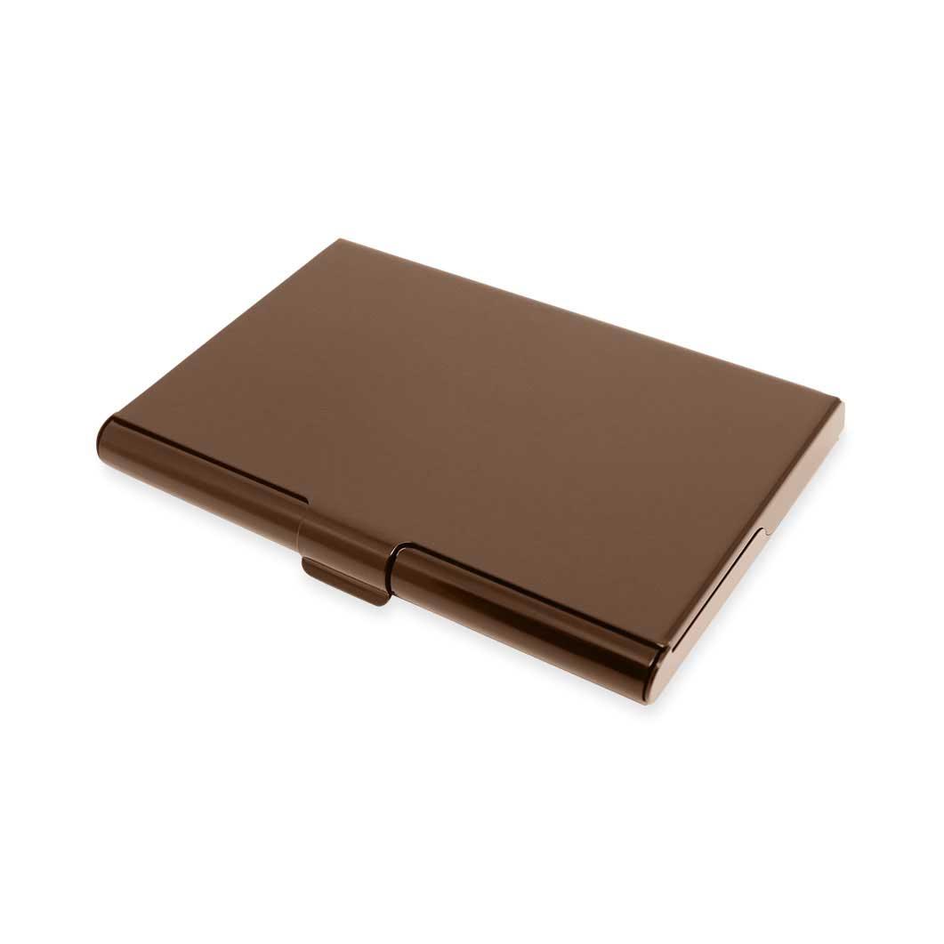 アルマイト カードケース ブラウン