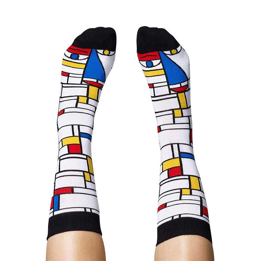 アーティストソックス L Feet Mondrian