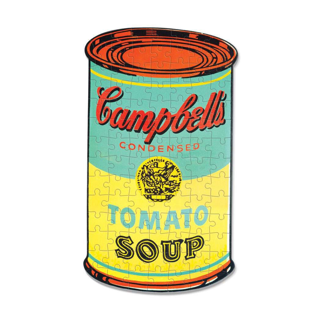 Andy Warhol ミニ シェイプ パズル キャンベルスープ缶